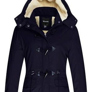Women's Winter Jacket Coat with Removable Hood